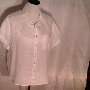 Catherine Malandrino white linen blouse